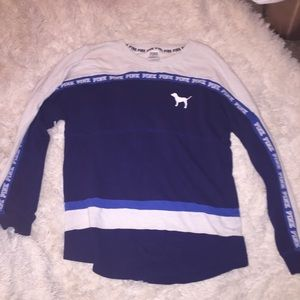 Vs pink blue and baby blue thick long sleeve